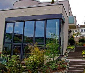 Hausfassade Glas Metallbau