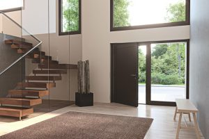 Haustürsystem mit Aluminiumprofilen
